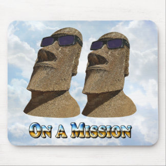 Moai On A Mission 2 - Mult Products Mouse Pad