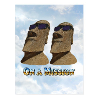 Moai On A Mission 2 - Mult Products Postcard