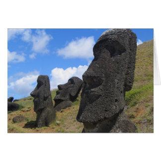 Moai on Easter Island Greeting Card