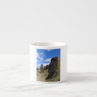 Moai on Easter Island Espresso Cup