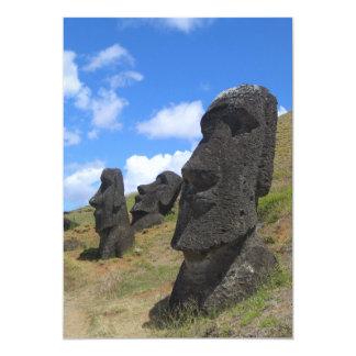 Moai on Easter Island 5x7 Paper Invitation Card