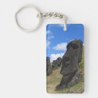 Moai on Easter Island Keychain