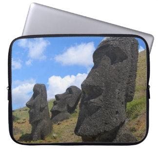 Moai on Easter Island Laptop Sleeve