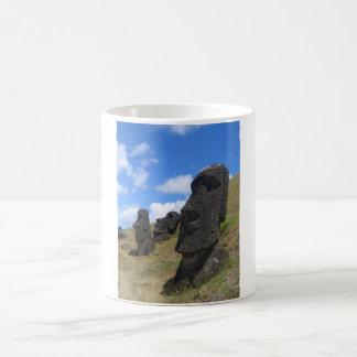 Moai on Easter Island Magic Mug