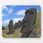 Moai on Easter Island Mouse Pad