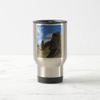 Moai on Easter Island Travel Mug