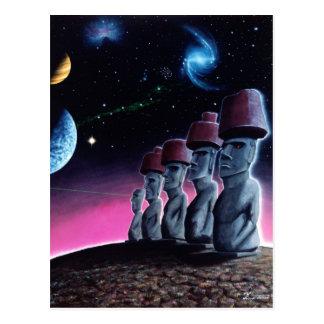 Moai on the Small Planet Postcard