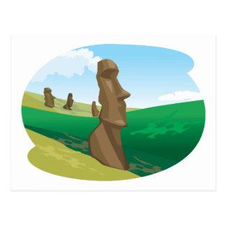 Moai Postcard