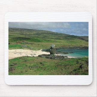 Moai statue Anakena Beach Rapa Nui Easter Island Mouse Pad