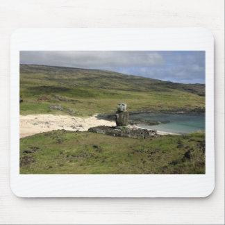 Moai statue Anakena Beach Rapa Nui Mouse Pad