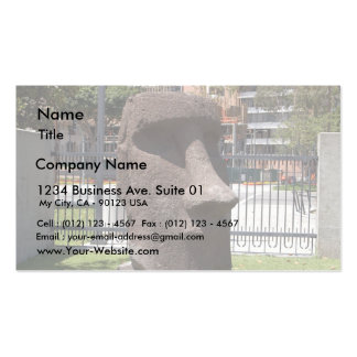 Moai Statue At The La Natural History Museum Double-Sided Standard Business Cards (Pack Of 100)