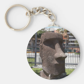 Moai Statue At The La Natural History Museum Keychain