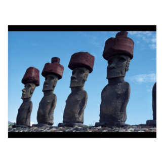Moai Statues Postcard
