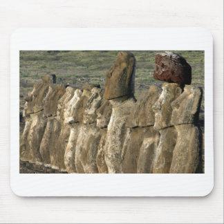 Moai statues Rapa Nui (Easter Island) Mouse Pad