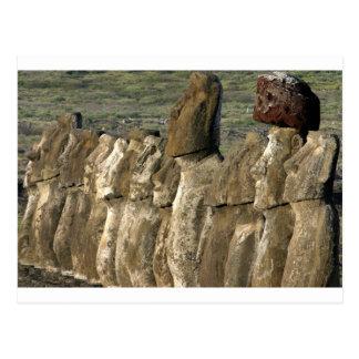 Moai statues Rapa Nui (Easter Island) Postcard