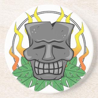 Moai Tiki Mask Coaster