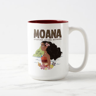 Moana | Adventurer, Voyager, Wayfinder Two-Tone Coffee Mug