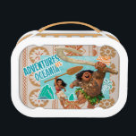 """Moana   Adventures In Oceania Lunch Box<br><div class=""""desc"""">Disney&#39;s Moana has been making waves across the world and this exciting design shows us why. Here we see the beautiful island goddess and the demigod, Maui against a breathtaking tropical background complete with intricate Polynesian graphics and the shimmering sea. With a spear in her hand and a determined look...</div>"""