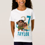 """Moana   Birthday T-Shirt<br><div class=""""desc"""">Celebrate your birthday in style this year with a unique customizable Moana shirt. This fun t-shirt features Moana and the mighty Maui from Disney&#39;s awesome animated adventure. Set against a cool tropical background, this colourful design will be sure to wow all of your friends. Add your name and age to...</div>"""