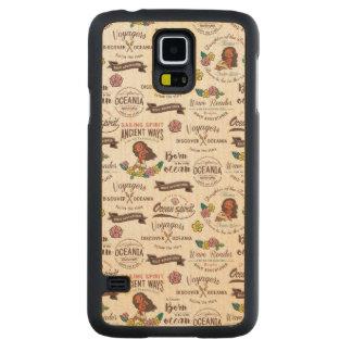 Moana | Bold Adventurer Pattern Carved Maple Galaxy S5 Slim Case