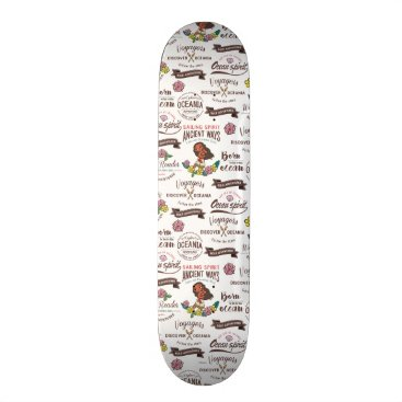 Disney Themed Moana | Bold Adventurer Pattern Skateboard Deck
