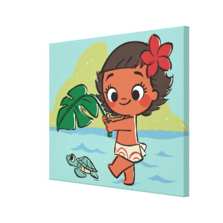Moana | Born to be in the Sea Canvas Print