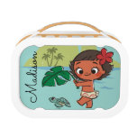 Moana   Born to be in the Sea Lunch Box<br><div class='desc'>Moana is an ocean princess &#39; well maybe not in this vintage style design. This baby Moana is more a princess in training! A cute design to showcase her great love of the sea and islands. Chasing a turtle with a leaf, this adorable kids cartoon from the Disney classic will...</div>