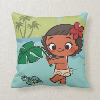 Moana   Born to be in the Sea Throw Pillow
