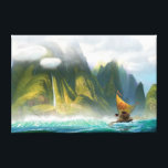 "Moana | Discover Oceania Canvas Print<br><div class=""desc"">Find what lies beyond the sea with this enchanting design from Disney&#39;s Moana. This beautiful ocean scene shows the two epic adventurers,  Moana and Maui on an action packed excursion to save the world from darkness. The ocean is calling!</div>"