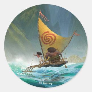 Moana | Discover Oceania Classic Round Sticker