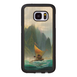 Moana | Discover Oceania Wood Samsung Galaxy S7 Case