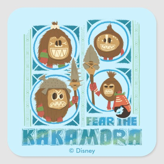 image regarding Kakamora Printable known as Moana Fret The Kakamora Sq. Sticker