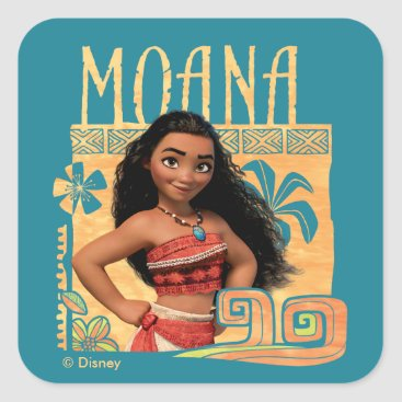 Disney Themed Moana | Find Your Way Square Sticker