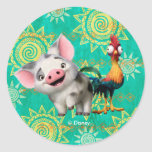 Moana | First Mate & Top Rooster Classic Round Sticker
