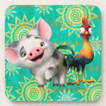 Moana | First Mate & Top Rooster Drink Coaster