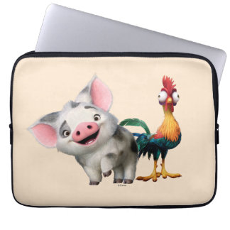 Moana   First Mate & Top Rooster Laptop Sleeve