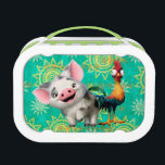 """Moana   First Mate &amp; Top Rooster Lunch Box<br><div class=""""desc"""">Meet Disney&#39;s silliest rooster,  Heihei and his pot-bellied pig pal,  Pua. These two adorable animals hail from Disney&#39;s animated adventure,  Moana. Although very different,  these playful pals are the best of friends. Kids will love this fun design featuring the cute companions against a colourful tropical background.</div>"""