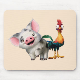 Moana | First Mate & Top Rooster Mouse Pad