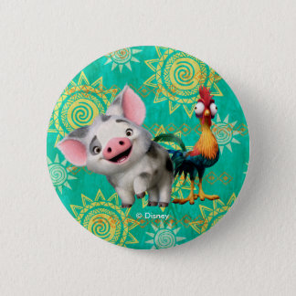 Moana | First Mate & Top Rooster Pinback Button