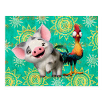 Moana | First Mate & Top Rooster Postcard