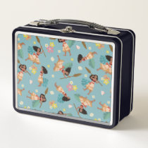 Moana | Floral Pattern Metal Lunch Box