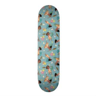 Moana | Floral Pattern Skateboard