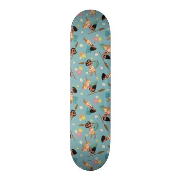 Disney Themed Moana | Floral Pattern Skateboard
