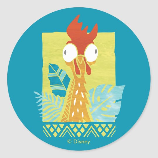 13344ed7c Moana | Heihei - I'm In Charge Here Classic Round Sticker | Zazzle.com