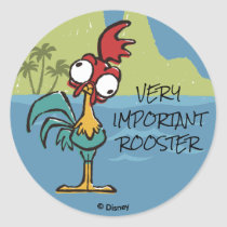 Moana | Heihei - Very Important Rooster Classic Round Sticker