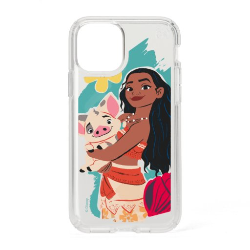 Moana Holding Pua Illustrated Graphic Speck iPhone 11 Pro Case