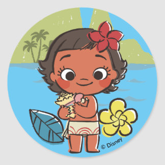 Moana | Island Daughter Classic Round Sticker