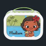 """Moana   Island Daughter Lunch Box<br><div class=""""desc"""">This adorable design depicts the young island princess, Moana long before her big ocean adventure. Even before she became Daughter of the Ocean, it was clear that Moana was drawn to the sea. Here we see the Polynesian princess from Disney&#39;s Moana as a tiny young toddler looking cute as can...</div>"""