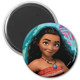 Moana   Island Girl 2 Inch Round Magnet