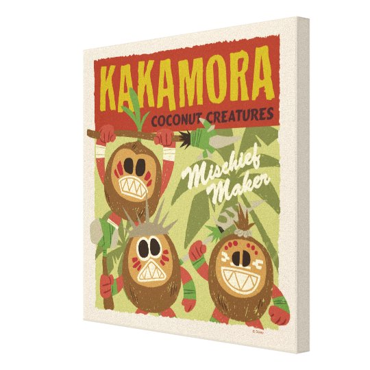 photo regarding Kakamora Printable called Moana Kakamora - Coconut Creatures Canvas Print